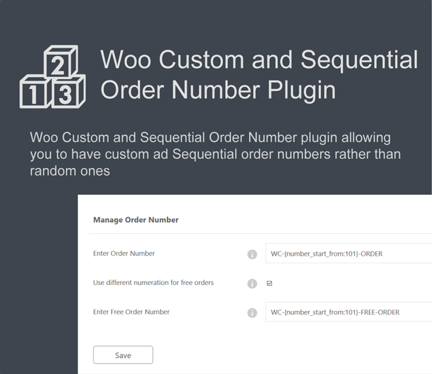 Woo Custom and Sequential Order Number 3